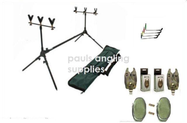 Q Dos Carp fishing Rod Pod ,Rests , Indicators & Alarms Option