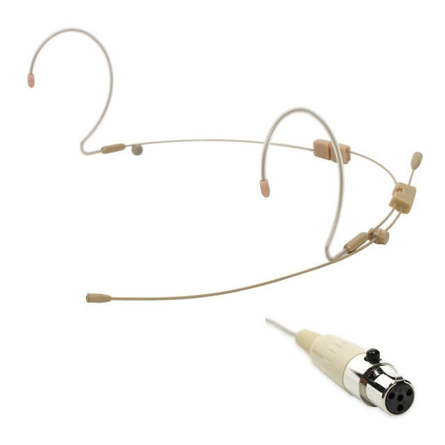OSP HS-12-TX Tan Full Earset Headset Mic for Telex Wireless Systems TA4F