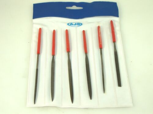 Needle File Set of 6 in Plastic Pouch 140 MM/5 1/2 Hobby Metal Wood Jewelry