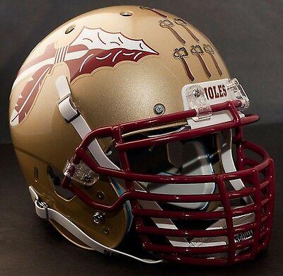 "FLORIDA STATE SEMINOLES **MINI** Football Helmet Nameplate /""NOLES/"" Decal//Sticker"