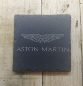 Premium Natural Slate Aston Martin Coaster Gift Set Car Lovers gift Set Aston