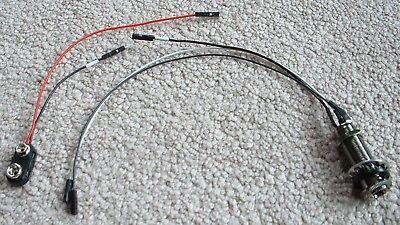 SOLDERLESS Wiring COSMO BLACK LONG BARREL JACK Battery Clip 152B for EMG  Ibanez | eBayeBay