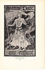 Advertisement Sarah Bernhardt Appearing in Joan of Arc Jean Grasset 1895