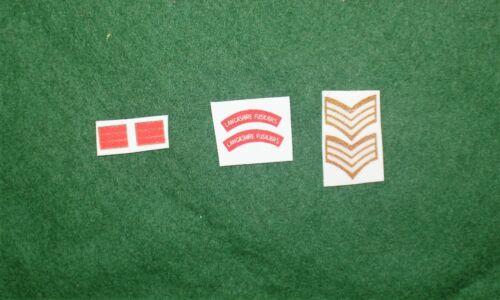 1//6 WW2 di British Lancashire Fusliers titoli spalla patch set lotto