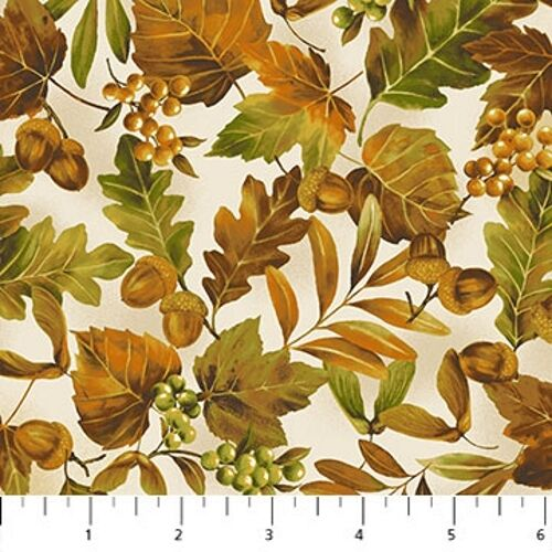 Northcott Mountain Springs 21318 34 Fall Leaves BTY Cotton Fabric