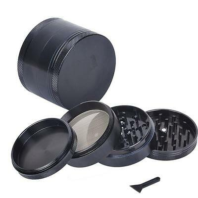 New Black 4-layer Aluminum Herbal Herb Tobacco Grinder Smoke Grinders
