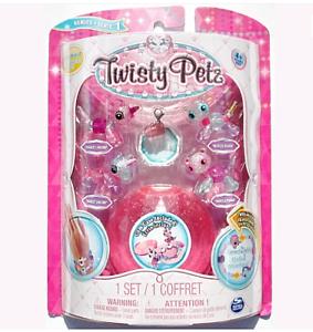 Babies 4-Pack Unicorns And Pandas Collectible Bracelet Set For Kid Twisty Petz