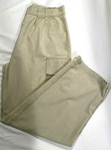 Bugle Boy Mens Cargo Pants Slacks Tan Size 36/30