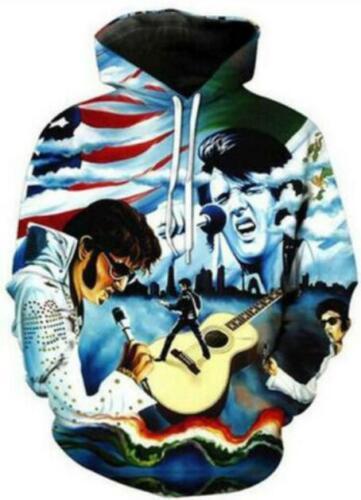 Elvis Presley 3D print Hoodie Men Women Casual Sweatshirt Jacket Pullovers Tops