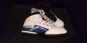 best service b60d0 0d8ef 2002 Nike Air Jordan 17 White College Blue Black Silver 302720-141 ...
