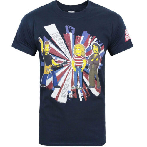 The Simpsons The Who Special Tale Of Two Springfields OFFICIAL Navy T-Shirt 8C