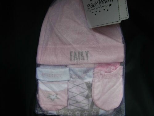 MITTS /& SOCKS 0-6 MTHS BABYBOY//  GIRL 4 PIECE GIFT SETS WITH HAT,BANDANA BIB