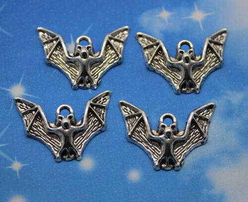 Free shipping retro style lovely bat alloy charm pendants 17*23mm