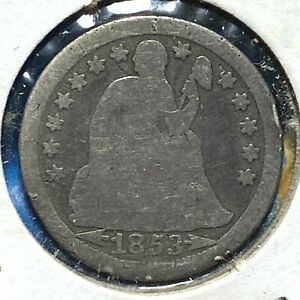 1853 Arrows at Date, 10C Liberty Seated Dime (61357)