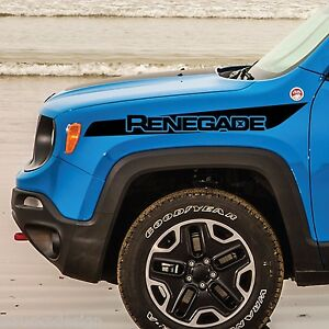 Jeep Renegade Hood Stripe Logo Graphic Vinyl Decal Sticker