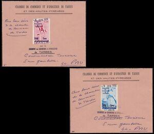 Timbre De Greve N°7/8 Tarbes 4 Juin 1968 Sur Lettre Lsc Cote Maury 450€ Superbe Pour Classer En Premier Parmi Les Produits Similaires