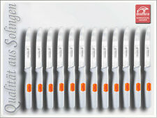12 x Tischmesser Frühstücksmesser aus Edelstahl mit Wellenschliff aus Solingen
