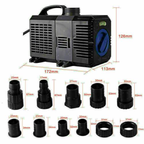 Teichpumpe SuperECO Bachlaufpumpe Filterpumpe Wasser Tauchpumpe 3000-12000L//H