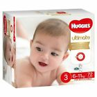 Huggies Ultimate Unisex Nappies Size 3 - 72 Pack