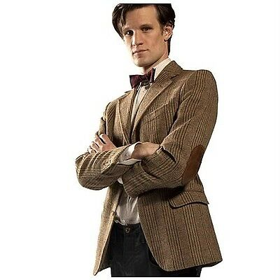 11th DOCTOR WHO Licensed S/M Tweed JACKET Costume Prop REPLICA Matt Smith COOL