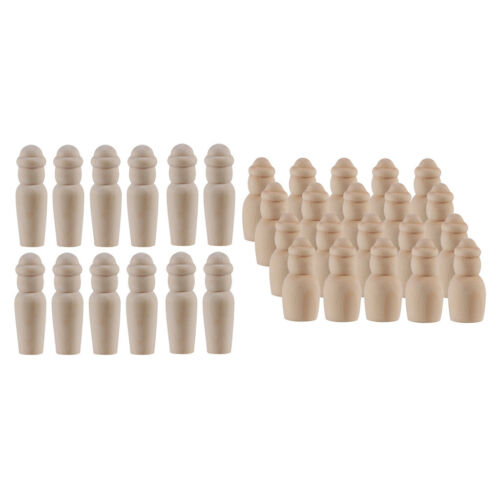 40x Natural Unfinished Wooden Peg Doll People Bodies for DIY Crafts 60//35mm