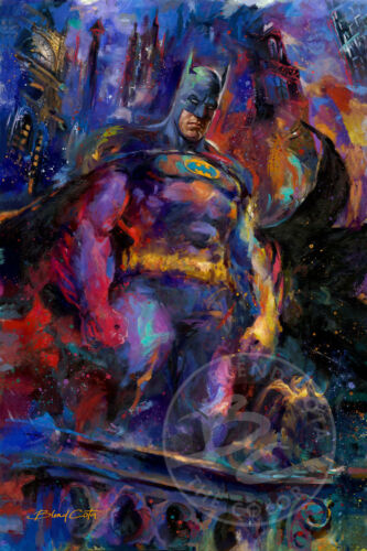 Batman The Dark Knight 30 x 24 S//N Limited Edition Paper by Artist Blend Cota