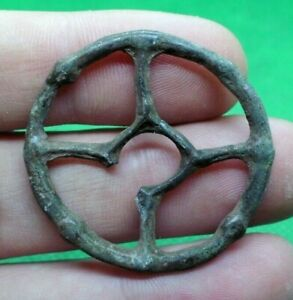 Details about ANCIENT CELTIC DRUIDS BRONZE SOLAR WHEEL AMULET - COMPLETE /  WEARABLE - 500 BC