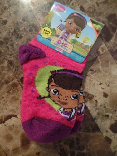 NEW girls DISNEY DOC MCSTUFFINS SOCKS shoe size 5.5-8.5 toddler SAFETY TOE gift
