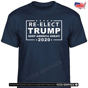 8d0c87cca RE-ELECT TRUMP 2020 - Keep America Great T-Shirt -- SIZES S - 4XL ...