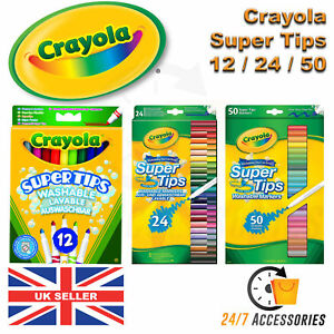 Crayola-Supertips-Washable-Lavable-Felt-Tip-Colouring-Pens-Markers-MultiColoured