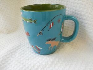 Hatley Ceramic GONE CAMPING Coffee Mug or Tea Cup