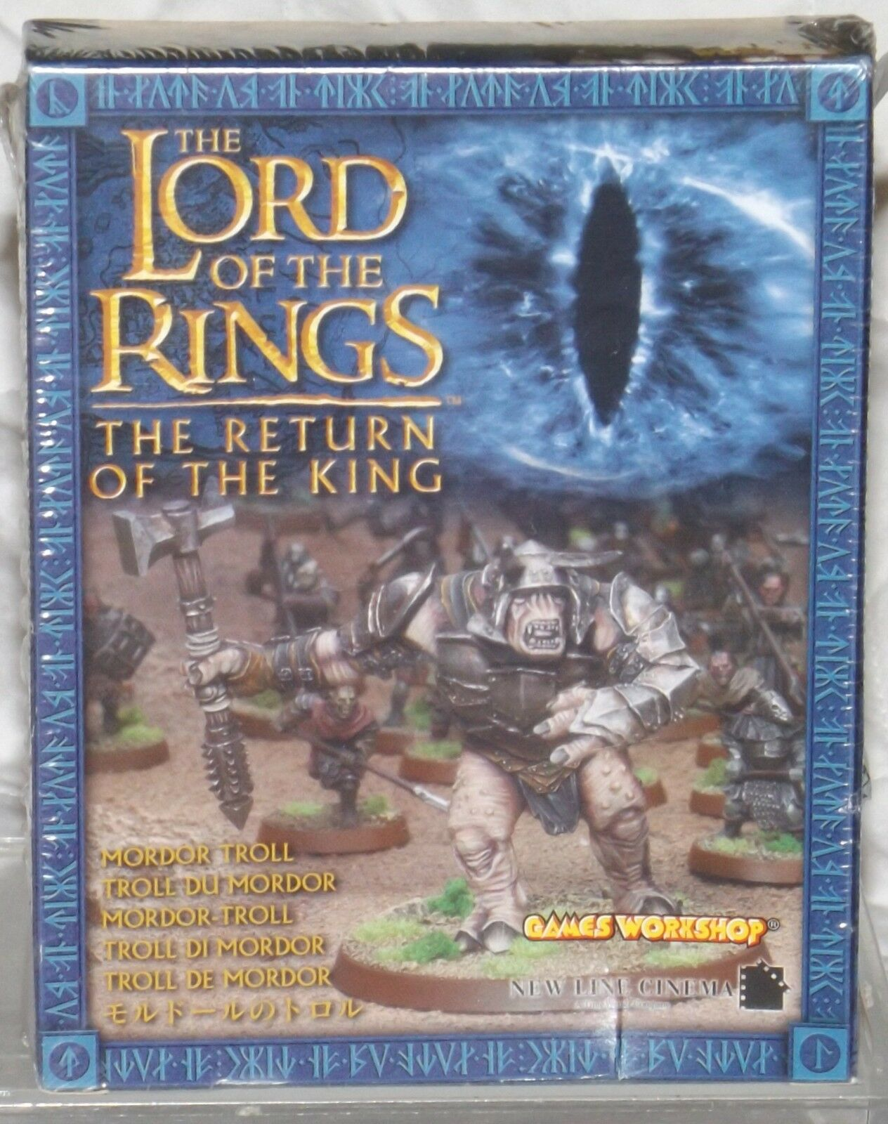 LOTR Games Workshop Mordor Troll The Return of the King SEALED Metal 06-27