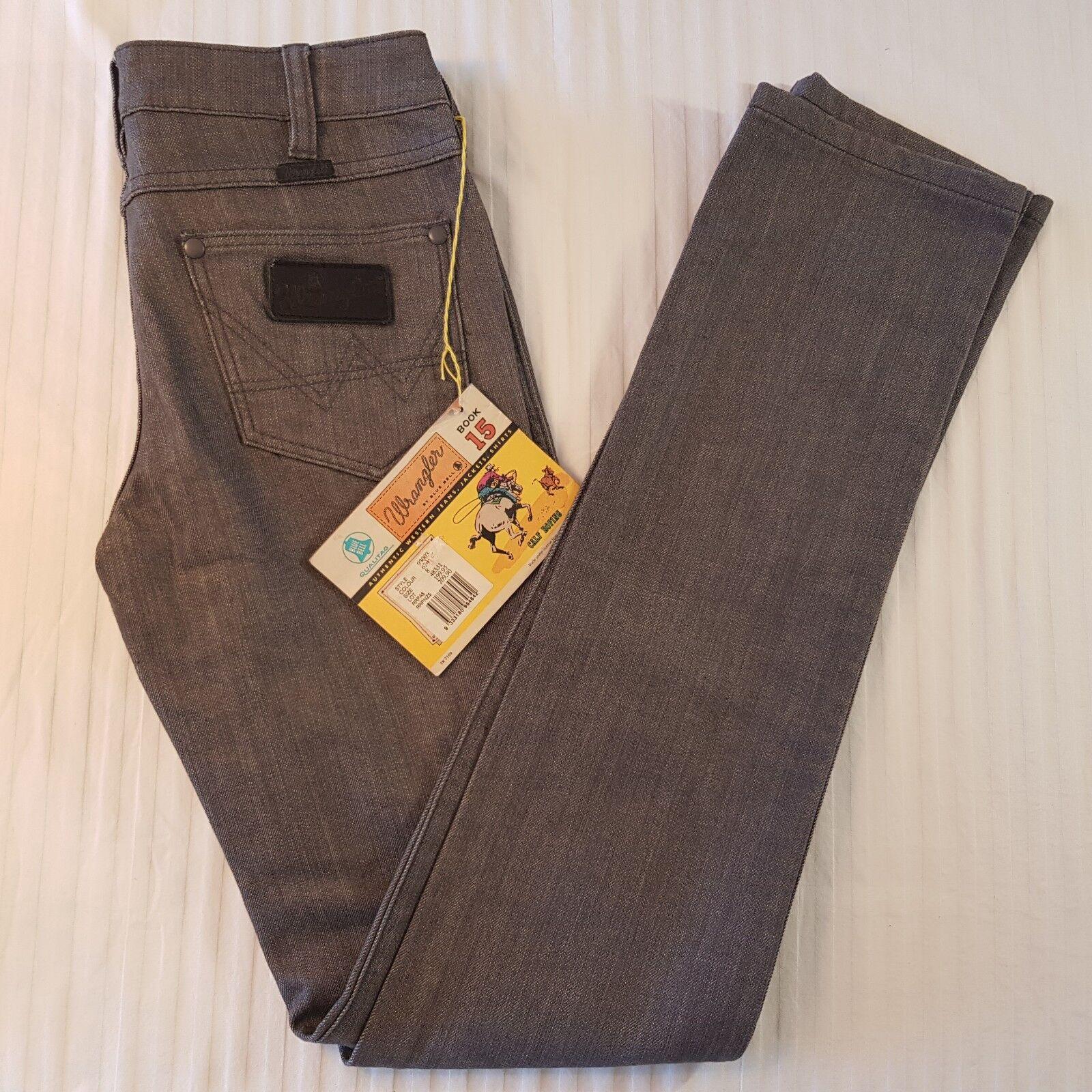 NEW Women's Wrangler Hipster Slim Size 8 bluee Bell Sanforized Book 15 - MB11