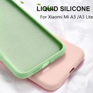 For-Xiaomi-Mi-A3-A2-Lite-Shockproof-Liquid-Silicone-Case-Soft-Slim-Back-Cover