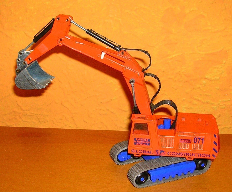 Siku Großbagger M500H 071 neon Orange Global Construction Werbung