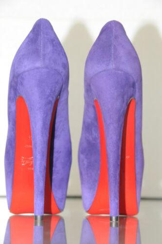 160 gamuza zapatos Daffodile Christian morada 36 planos de Nuevo 5 Louboutin qg0tw1x6