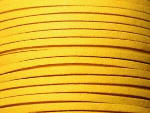 5-metres-Cordon-Laniere-Suedine-3mm-Jaune-Moutarde-8741140010765