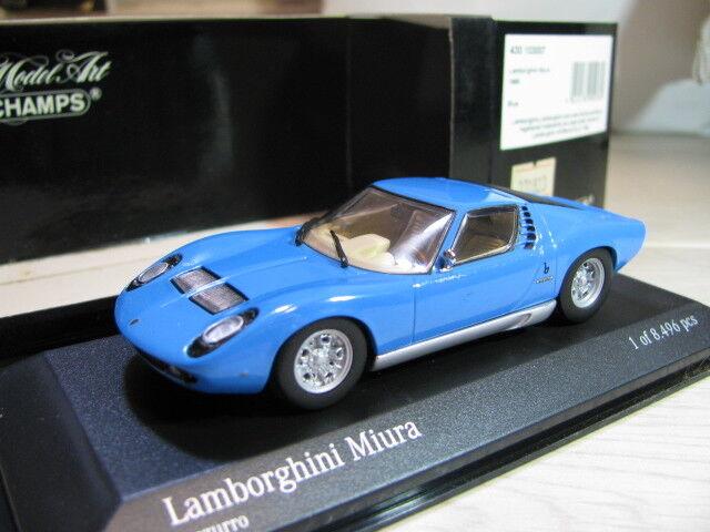 1 43 Minichamps Lamborghini Miura (1966) Azul Diecast