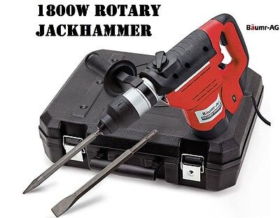 NEW Electric Rotary Jackhammer Drill Trade DIY 1800w Jack Hammer Chisel Chuck