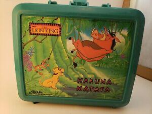 Lion King lunch box vintage disney hakuna matata aladdin plastic