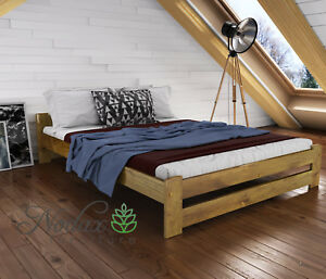Image Is Loading New Solid Pine European King Size Bed Frame