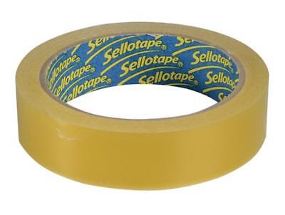Original Sellotape Extra Sticky Golden Clear 24mm x 50m Packaging Tape Gift Wrap