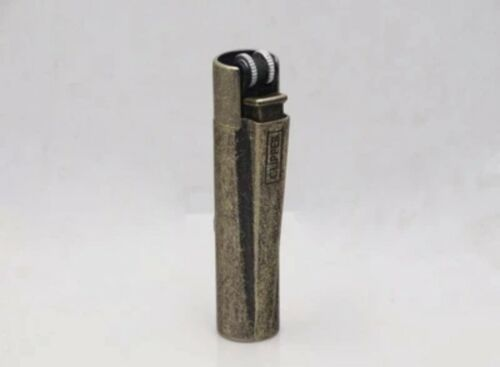 For Clipper slim metal gas lighter,Inflatable Copper color Lighter No gas