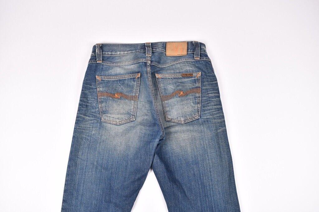 Nudie Scharf Bengt Org.autentic Abgenutzt Herren Jeans Größe 30 32  | Starker Wert  | Sale Online  | Wunderbar