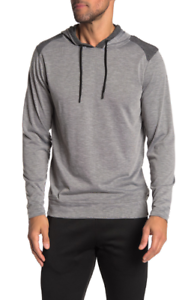 BURNSIDE-Colorblock-Paneled-Pullover-Hoodie-Heather-Charcoal-XL-44