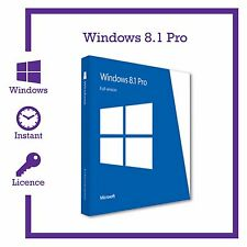 Genuine Microsoft Windows 8.1 PRO PROFESSIONAL 32 / 64bit prodotto chiave di attivazione
