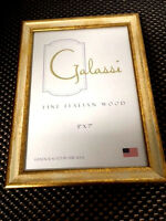 F. G. Galassi Handcrafted Fine Italian Wood Cream Gold 5 X 7 Frame Made Usa