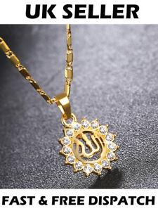 Gold-Muslim-Allah-Arabic-Islamic-Sun-Necklace-God-Jewellery-Gift-Pendant-Chain