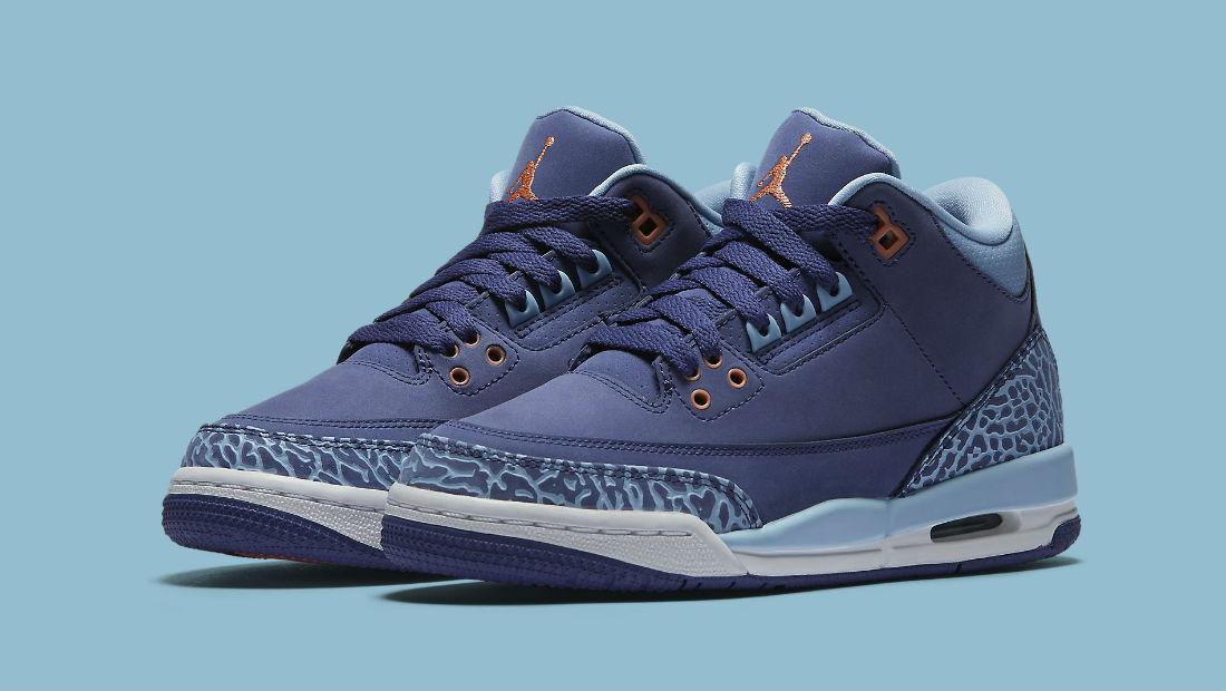 2018 Nike Air Jordan 3 III GS Purple Dust Blue Cap Comfortable Cheap and beautiful fashion