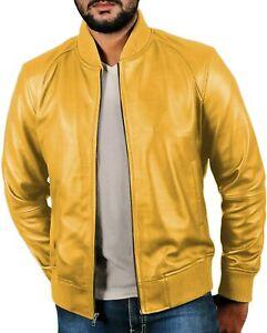 Biker Jacket Handmade Personalized Genuine Leather Jacket Yellow Jacket Slim Fit Leather Jacket for Women
